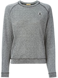 Peter Jensen Bunny Patch Lurex Sweatshirt Metallic