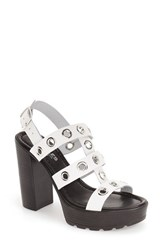 Women's Charles By Charles David 'Plymouth' Platform Sandal White Leather