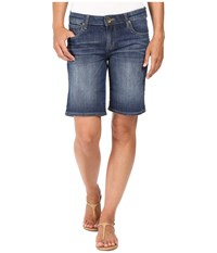 Kut From The Kloth Catherine Bermuda In Levity Levity Medium Base Wash Women's Shorts Blue