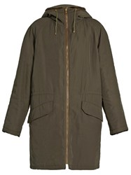 Yves Salomon Reversible Fur Lined Parka Khaki