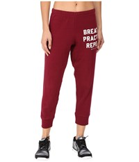 Spiritual Gangster Breathe Practice Repeat Dharma Pants Currant Women's Casual Pants Red