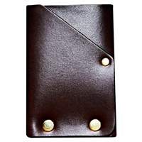 American Bench Craft Hammer Riveted Front Pocket Wallet Brown Leather Brass Rivets
