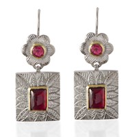 Emma Chapman Jewels Hayami Ruby Earrings Red