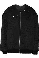 Stella Mccartney Clifford Quilted Taffeta Hooded Jacket Black