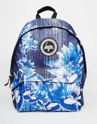 Hype Backpack In Navy Digital Floral Print Navy