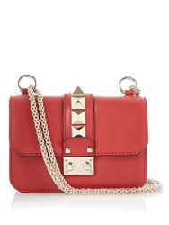 Valentino Lock Small Leather Shoulder Bag Red