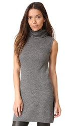 Alice Olivia Fay Slit Rib Mock Neck Tunic Medium Grey