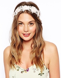 Asos Floral Headband And Ribbon