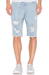Stampd Distressed Denim Short Indigo