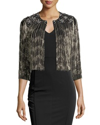 French Connection Embellished Diamond Fringe Cardigan Black