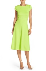 Women's Eci Lime Scuba Fit And Flare Midi Dress Green