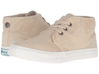 Blowfish Maggs Natural Color Washed Canvas Women's Lace Up Casual Shoes Beige