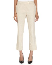 Escada Mid Rise Cropped Pants Litchi