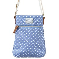 Joules Oriel Print Canvas Across Body Bag Chambray Hare