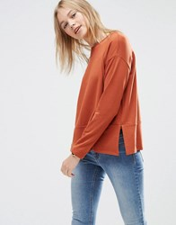 Asos Lightweight Sweatshirt Rust Red