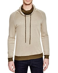 Twenty Tees Honeycomb Funnel Neck Sweatshirt Sand