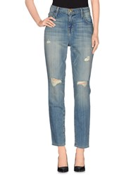 Current Elliott Denim Denim Trousers Women Blue
