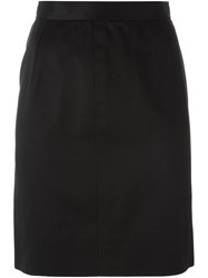 Yves Saint Laurent Vintage Straight Short Skirt Black