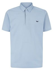 Wolsey Self Collar Pique Regular Fit Polo Shirt Blue