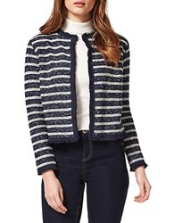 Miss Selfridge Petite Striped Blazer Navy