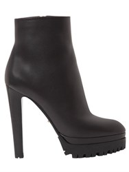 Sergio Rossi 130Mm Aspen Smooth Leather Ankle Boots