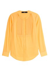 Steffen Schraut Silk Blouse With Pleats Gold