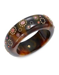 Kate Spade Crystal Accented Tortoise Shell Bangle Brown