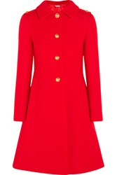 Miu Miu Pleated Wool Felt Coat