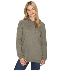 Volcom Lived In Fleece Pullover Hoodie Military Women's Sweatshirt Olive