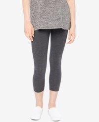 Motherhood Maternity Skinny Cropped Leggings Charcoal