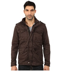 Lucky Brand Military Jacket Washed Black Men's Coat