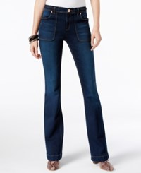 Inc International Concepts Braided Indigo Wash Flare Leg Jeans Only At Macy's