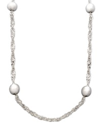 Giani Bernini Sterling Silver Necklace 20' Bead Singapore Chain