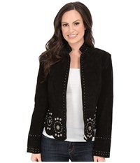 Scully Loretta Studs And Concho Jacket Black Women's Coat