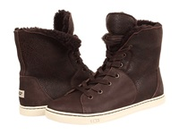 Ugg Croft Chocolate Twinface Suede Women's Lace Up Boots Brown