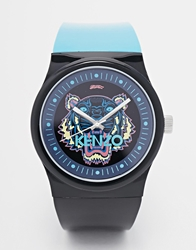 Kenzo Tiger Silicone Strap Watch Black