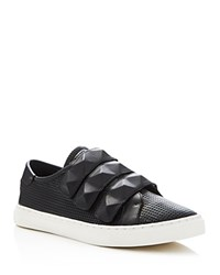 Rebecca Minkoff Becky Perforated Stud Strap Sneakers Black