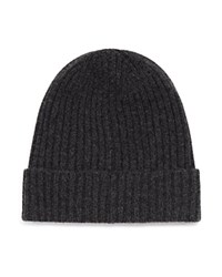 Bloomingdale's The Men's Store At Cashmere Ribbed Cuff Hat Charcoal