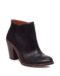 Lucky Brand Eesa Leather Slip On Ankle Boots Black