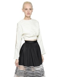 Natargeorgiou Cropped Neoprene And Cotton Net Sweatshirt