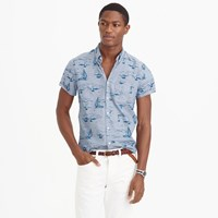 J.Crew Short Sleeve Shirt In Sailboat Print