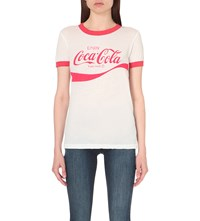 Wildfox Couture Coca Cola Cotton Jersey T Shirt Clean White India
