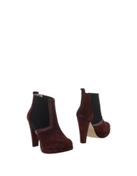 Ganni Ankle Boots Deep Purple
