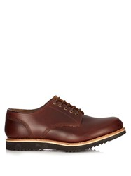 Grenson Drew Leather Derby Shoes Brown