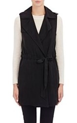 Barneys New York Clara Trench Vest Black