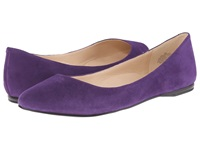 Nine West Speakup Dark Purple Suede Women's Dress Flat Shoes