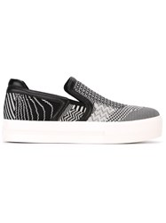 Ash Houndstooth Print Slip On Sneakers Black