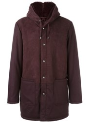 Etro Hooded Parka Pink And Purple