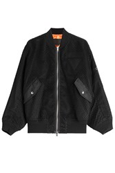 Alexander Wang Boyfriend Bomber Jacket With Mesh Black