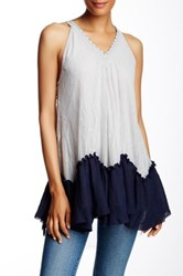 Ryu Sleeveless Lace Blouse Gray